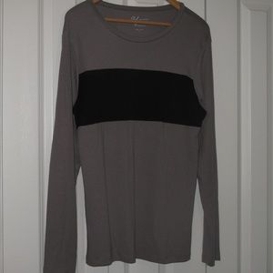 Andrea Jovine Long Sleeve Brown black Top , XL